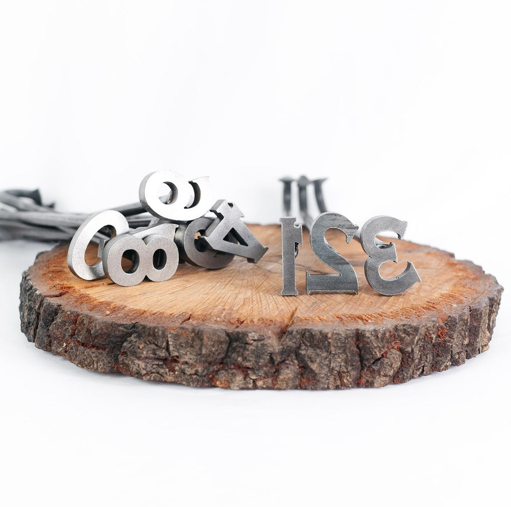 "0-9 Number Branding Irons - 10 Numbers - 2"" Tall - Custom Cowboy Monogram - The Heritage Forge"