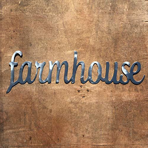 The Heritage Forge Rustic Home, Farmhouse - 20 x 6, Motivational, Metal Words, Kitchen Wall Decor, Home Decor, Farmhouse Sign, Motivational