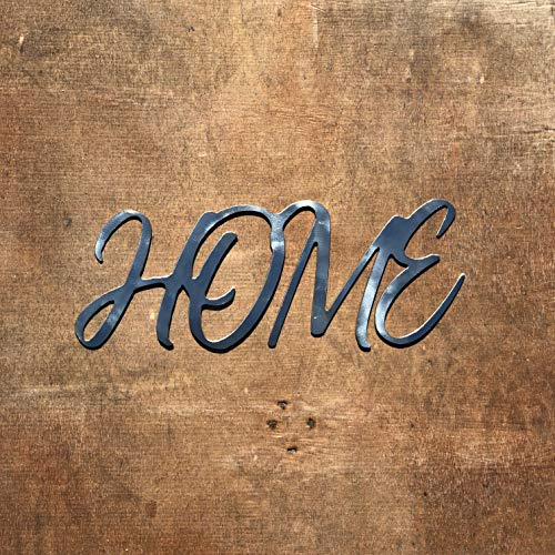 The Heritage Forge Rustic Home, Family - 15 x 6.5, Motivational, Metal Words, Kitchen Wall Decor, Home Decor, Farmhouse Sign, Motivational