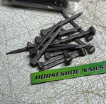 Horseshoe Nails - Size 5 - City Head - for Jewelry Supplies, Leaded Stained Glass Projects, Horses, or Rustic Decor - The Heritage Forge
