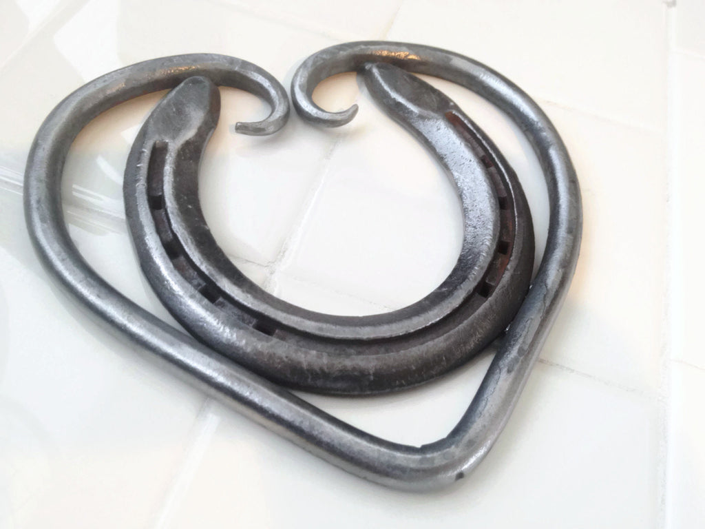 Horseshoe Heart Trivet, Home Decor, Wall Hanger - The Heritage Forge