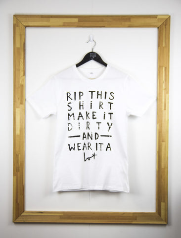 Front of White Rip This shirt from Lot Madeleine