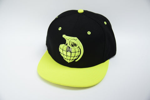 Love Grenade Black and Yellow Cap - Front
