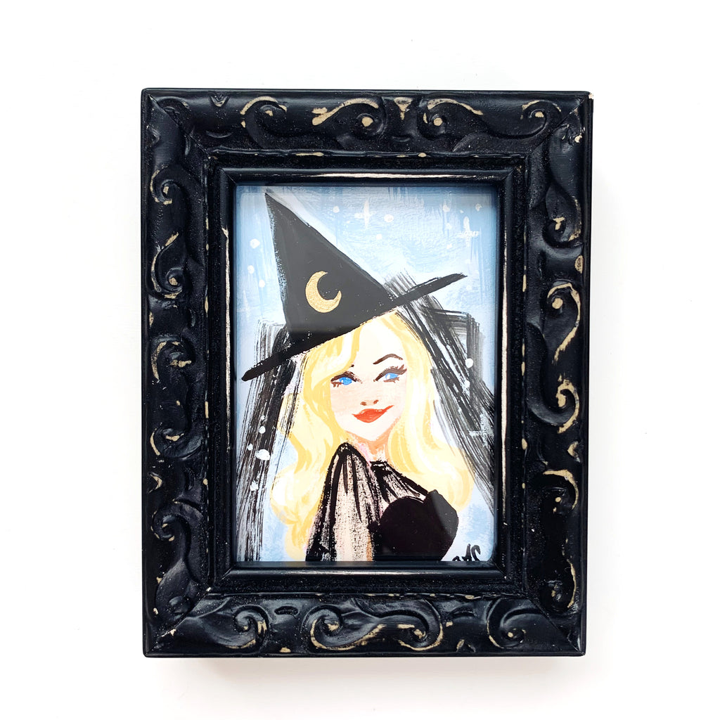 Original Tiny Painting – So I Married A Witch