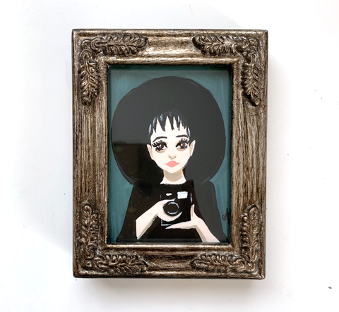 Original Tiny Painting – Lydia Deetz