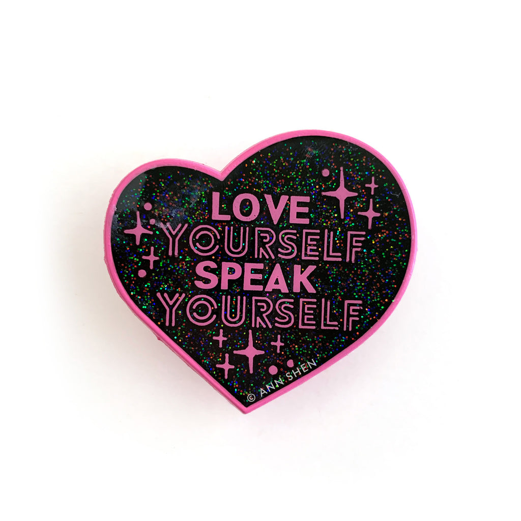ENAMEL PIN – Love Yourself Speak Yourself Tour, Limited Edition