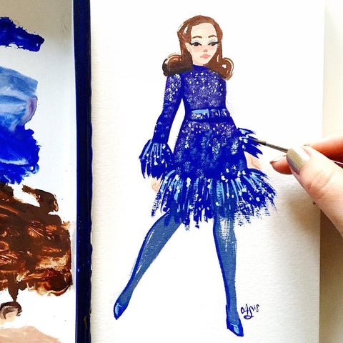 Original Fashion Illustration Painting – No. 8 Sophia