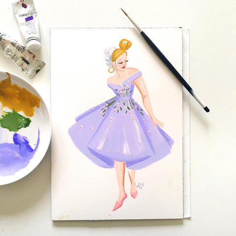Original Fashion Illustration Painting – No. 30 Beatrice