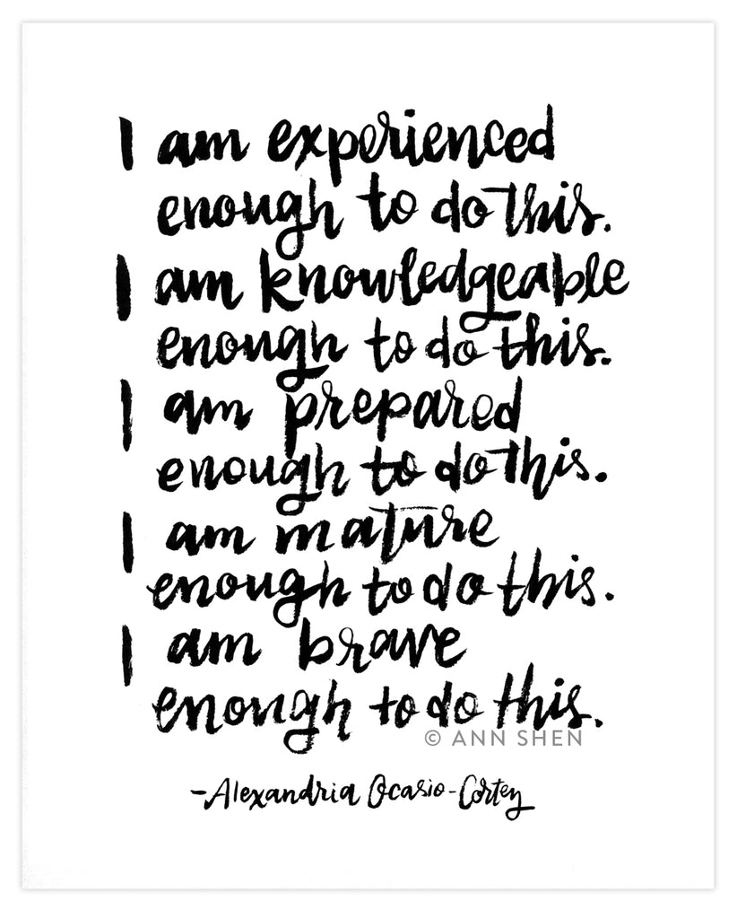 I Am Enough Art Print 8x10""