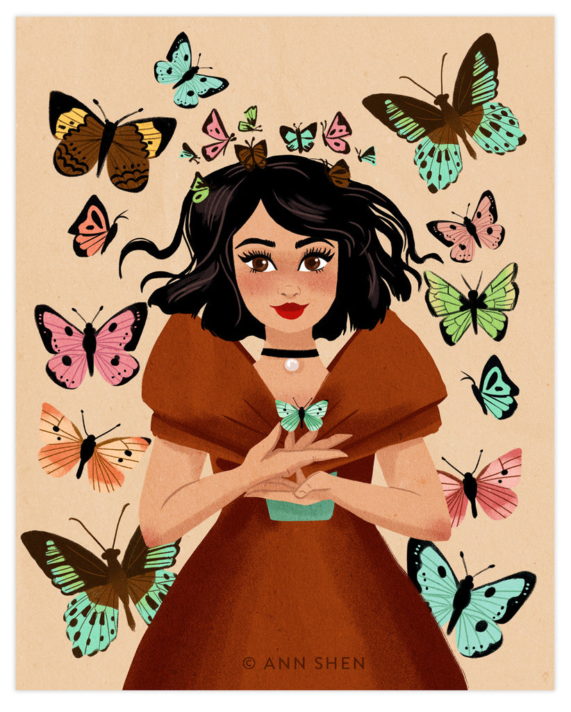"""The Butterfly Collector"" Art Print 8x10"""