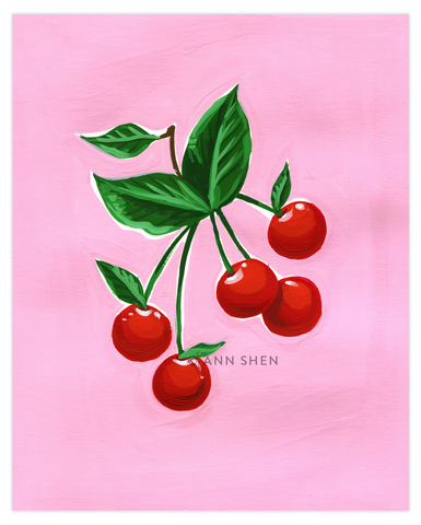 "Summer of Fruit Collection – Cherries 8x10"" Art Print"