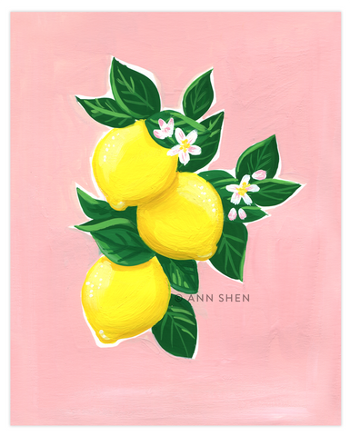 "Summer of Fruit Collection – Lemons 8x10"" Art Print"