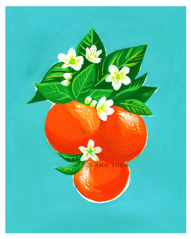 "Summer of Fruit Collection – Oranges 8x10"" Art Print"