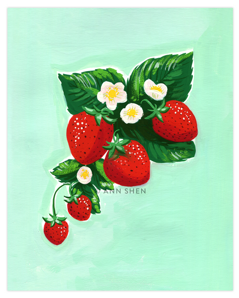 "Summer of Fruit Collection – ALL FOUR 8x10"" Art Print"