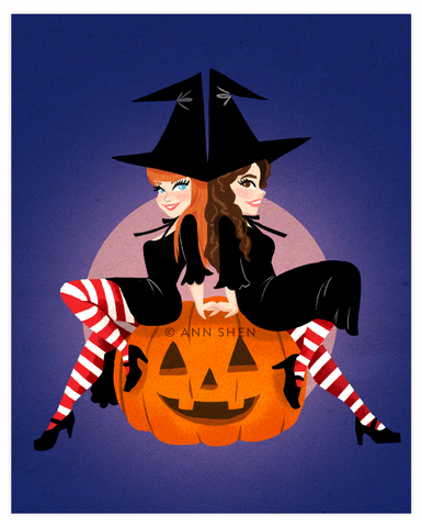 """Practical Magic Sisters"" Art Print 8x10"""