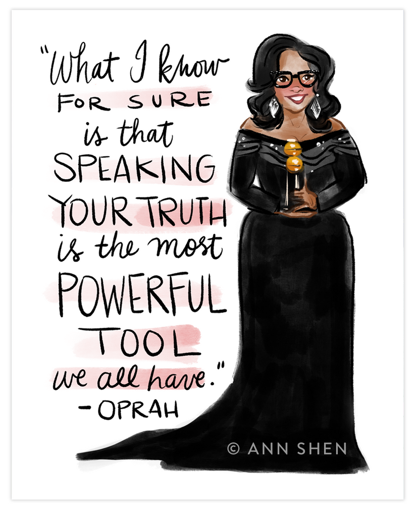 Queen Oprah Art Print 8x10""