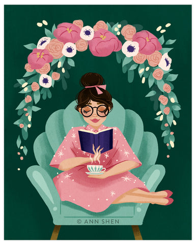 """Reading Time"" Art Print 8x10"""