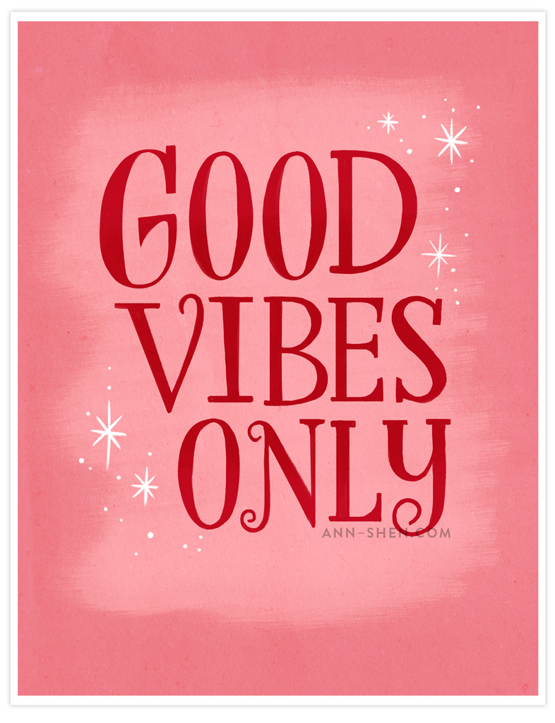Good Vibes Only Art Print 8x10""