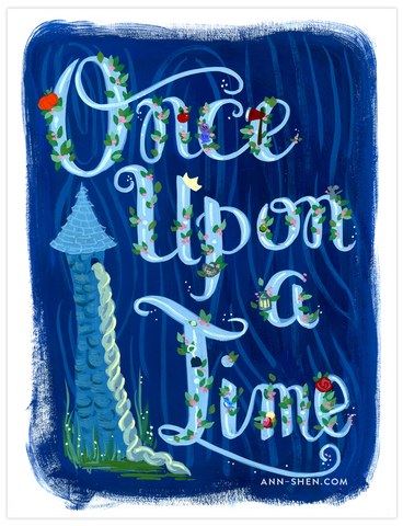 Once Upon A Time Art Print 8x10""