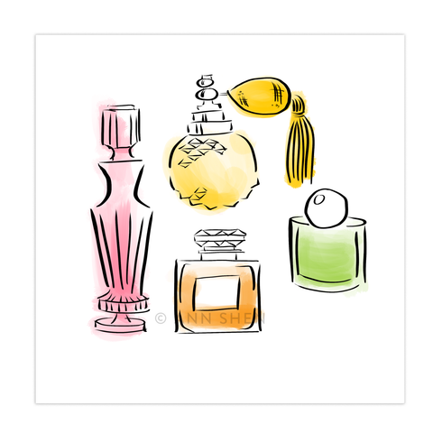 Beauty Department – Perfume Art Print 8x8""