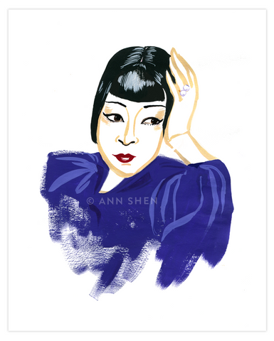 Bad Girls Throughout History Collector's Print – Anna May Wong, 8x10""
