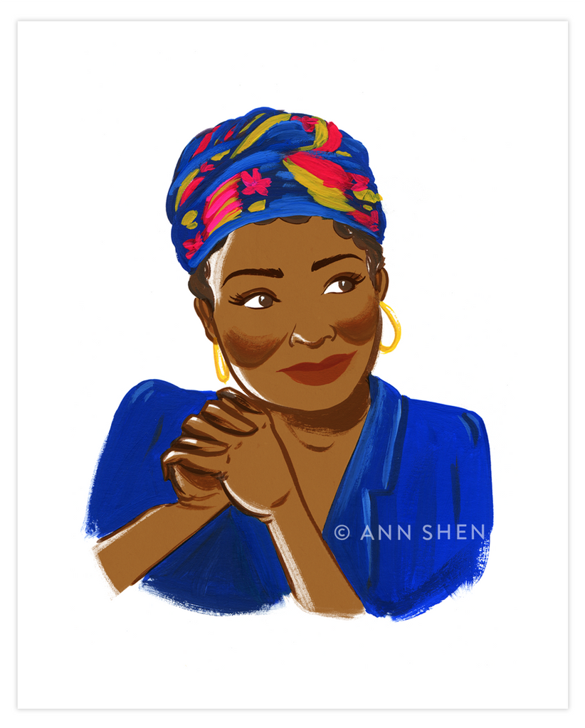 Bad Girls Throughout History Collector's Print – Maya Angelou, 8x10""
