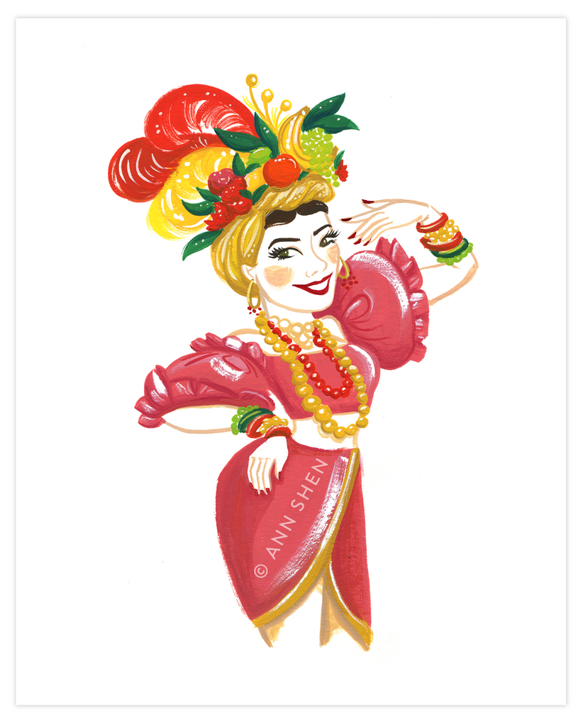 Bad Girls Throughout History Collector's Print – Carmen Miranda, 8x10""