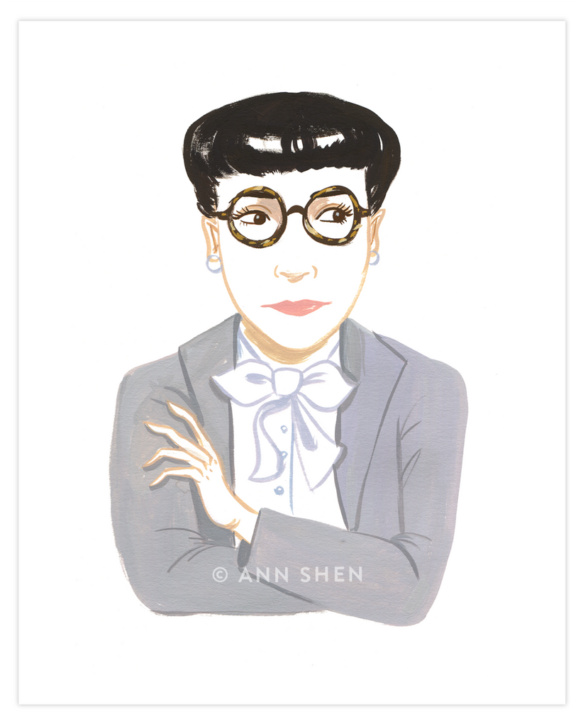 Bad Girls Throughout History Collector's Print – Edith Head, 8x10""