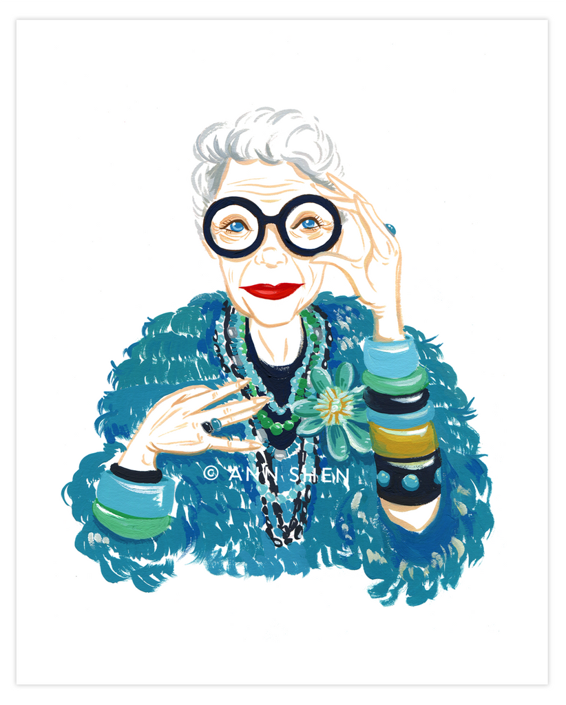 Bad Girls Throughout History Collector's Print – Iris Apfel, 8x10""