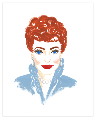 Bad Girls Throughout History Collector's Print – Lucille Ball, 8x10""