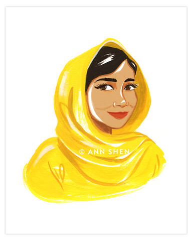 Bad Girls Throughout History Collector's Print – Malala Yousafzai, 8x10""