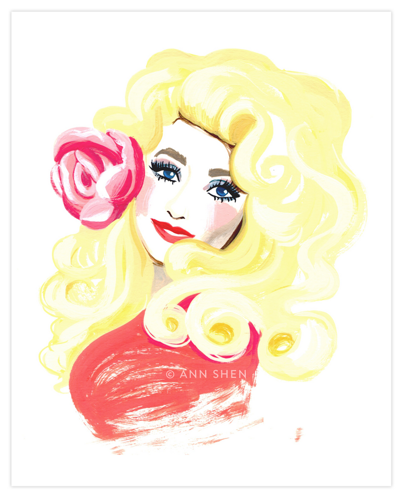 Bad Girls Throughout History Collector's Print – Dolly Parton, 8x10""