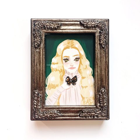 Original Tiny Painting – Crimson Peak Edith