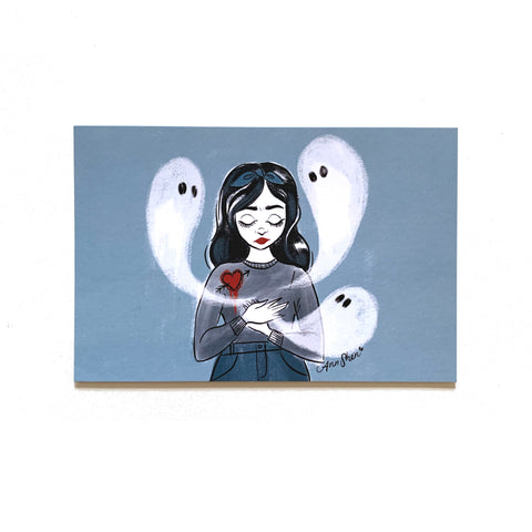 "The Ghosts in Her Heart – Single 4x6"" Postcard"