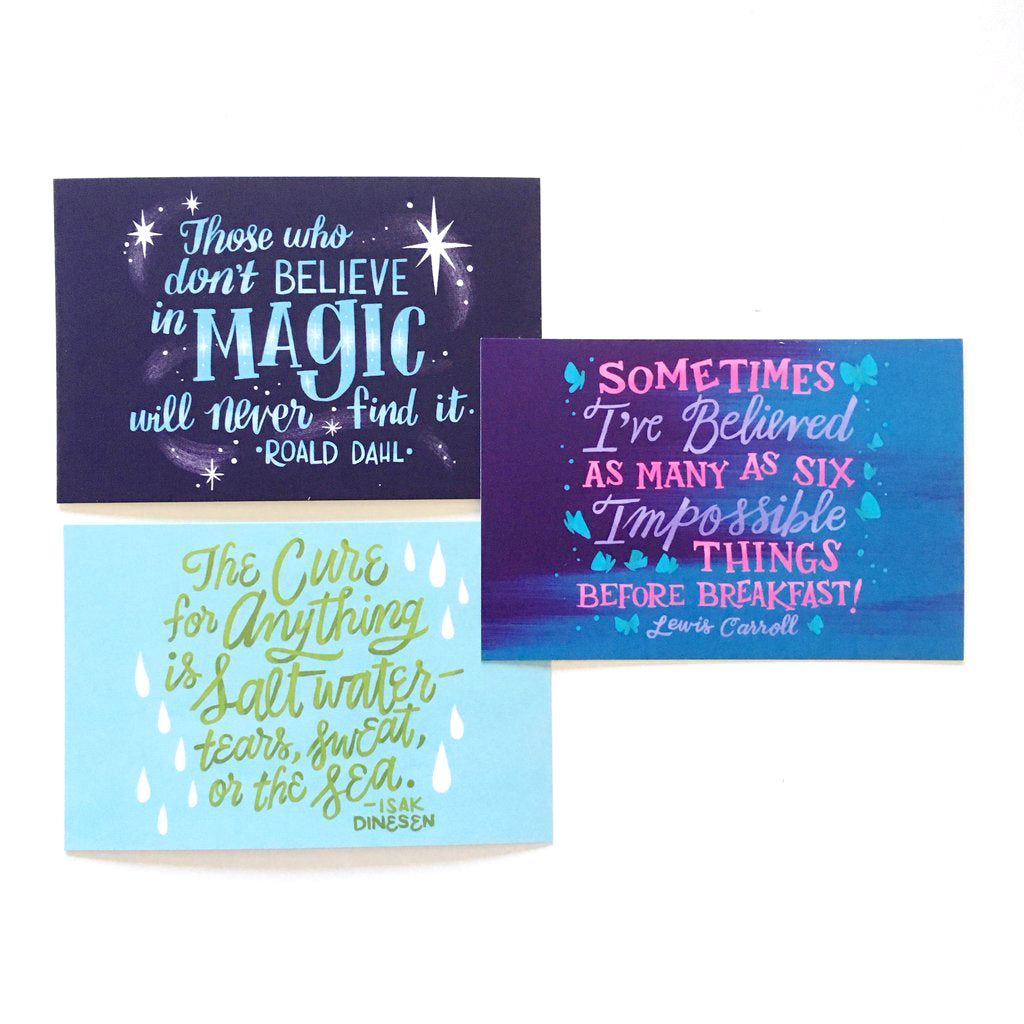"Inspirational Quotes – 4x6"" Postcard Set"