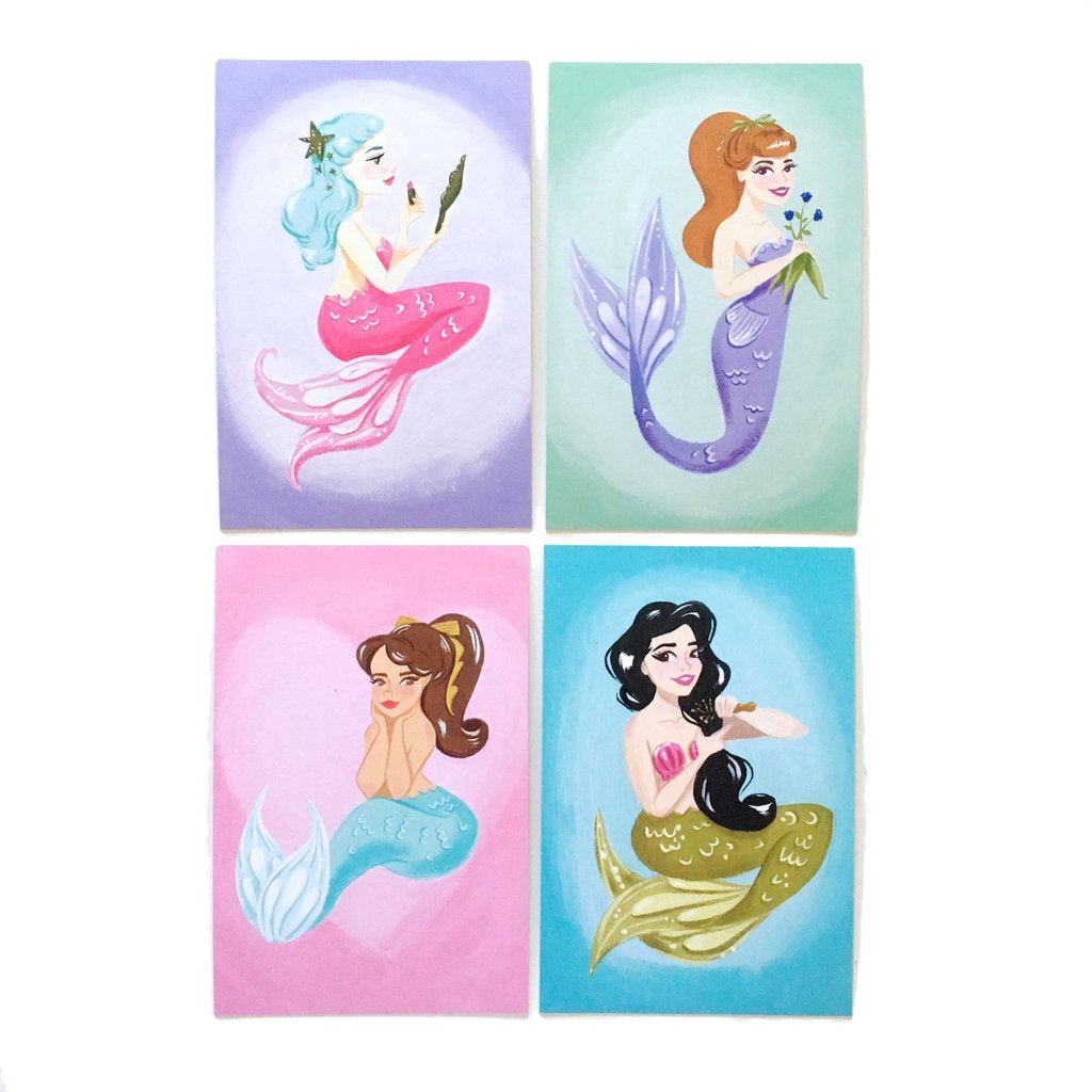 "Mermaids of the Sea – 4x6"" Postcard Set"