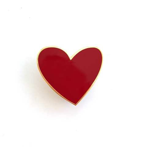 ENAMEL PIN – Heart On Your Sleeve