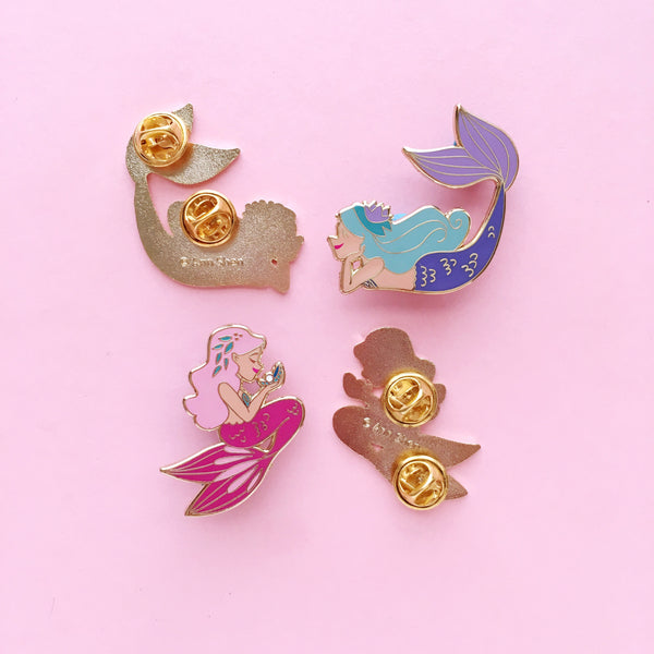 ENAMEL PIN – Pink Pearl Mermaid