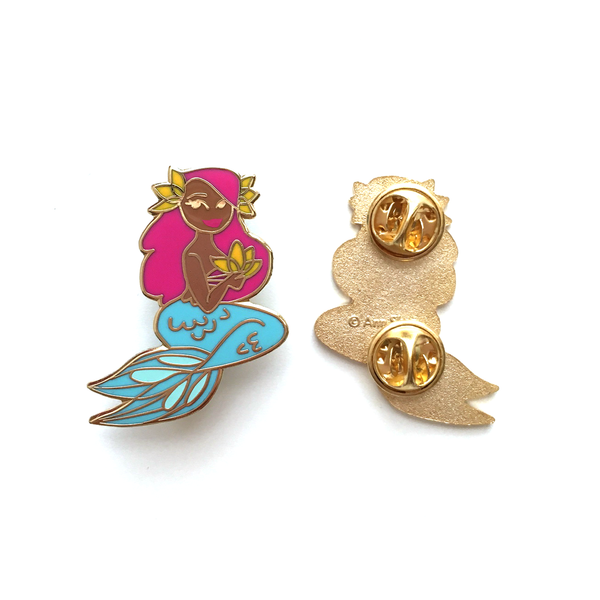 ENAMEL PIN – Lily Mermaid, Limited Edition No. 1
