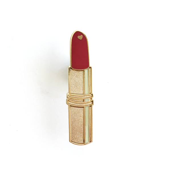 ENAMEL PIN – Red Lipstick