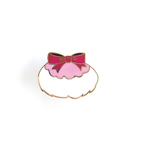 ENAMEL PIN – Pink Powder Puff