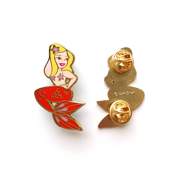 ENAMEL PIN – Sunset Mermaid, Limited Edition Blonde