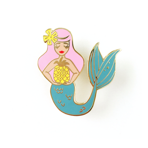 ENAMEL PIN – Tiki Mermaid
