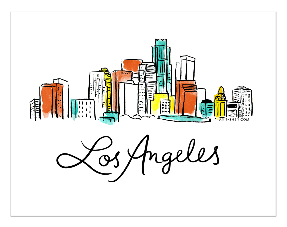 City Love – Los Angeles Art Print 11x8.5""