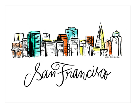 City Love – San Francisco Art Print 10x8""