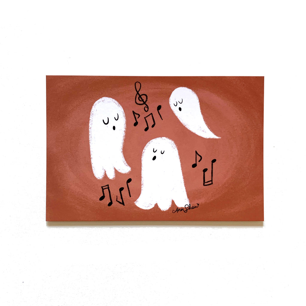 "Singing Ghosts – Single 4x6"" Postcard"