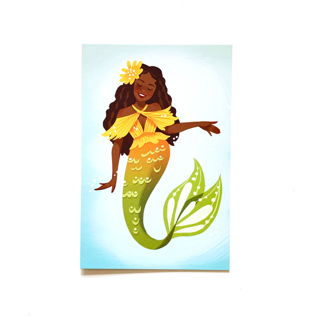 "Sunnyside Mermaid – Single 4x6"" Postcard"