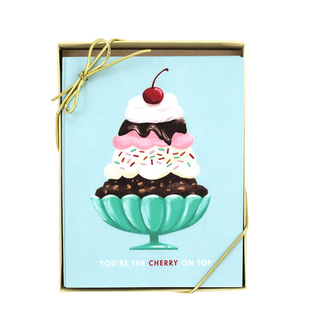 Cherry On Top Card – Set of 8