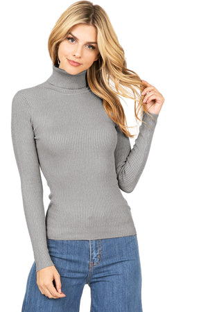 Mollie Ribbed Turtleneck Top