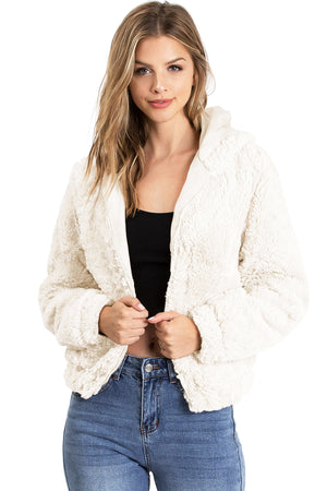 Blissful Faux Fur Hoodie